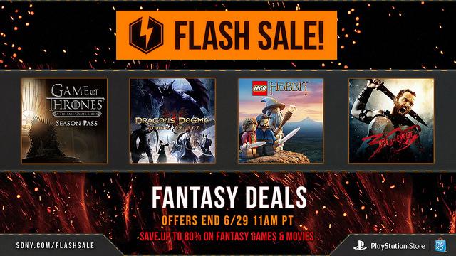 PSN launches fantasy flash sale