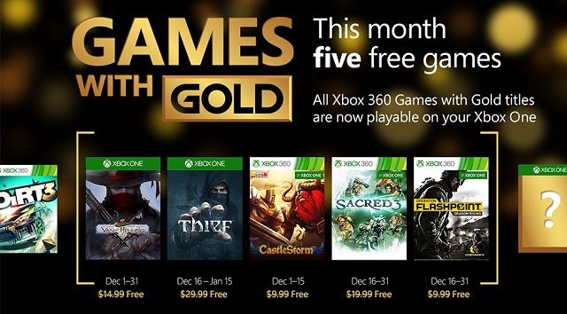 Xbox Games with Gold in December lets gamers steal Thief for free