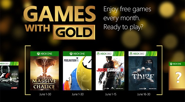 Games with Gold in June features Thief and Just Cause 2