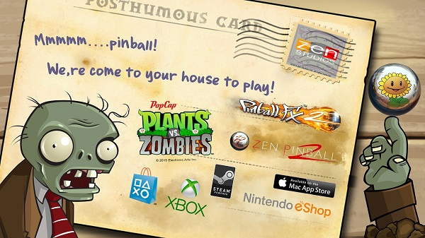 Plants vs. Zombies pinball table drops onto Xbox One
