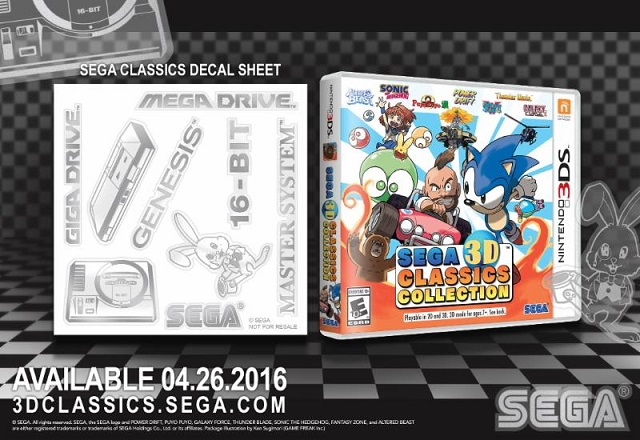 SEGA 3D Classics Collection to include decal collection