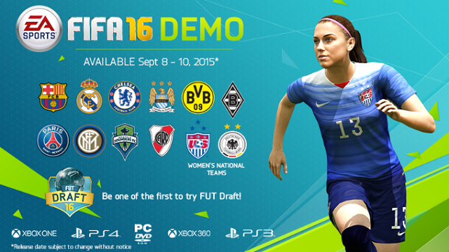 FIFA 16 demo coming in September