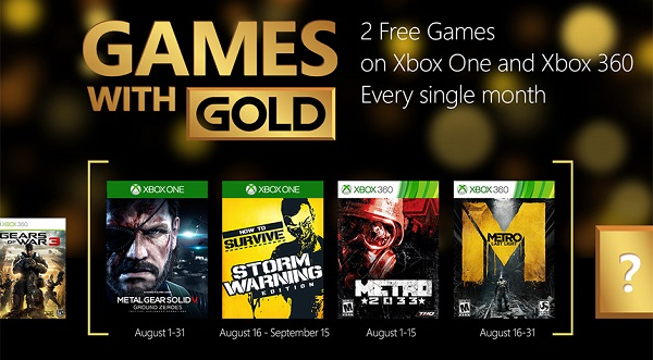Games with Gold riding the Metro in August