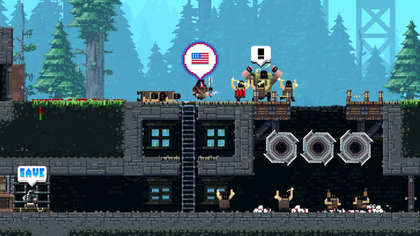 Broforce fights for Freedom