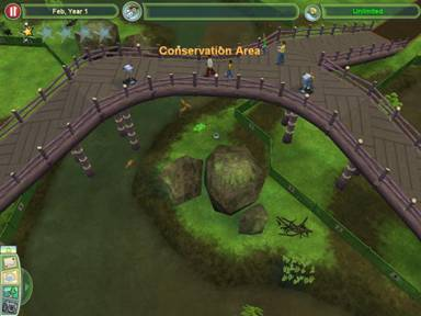 zoo tycoon how to make a tank with land