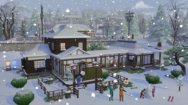 The Sims escape to the snow