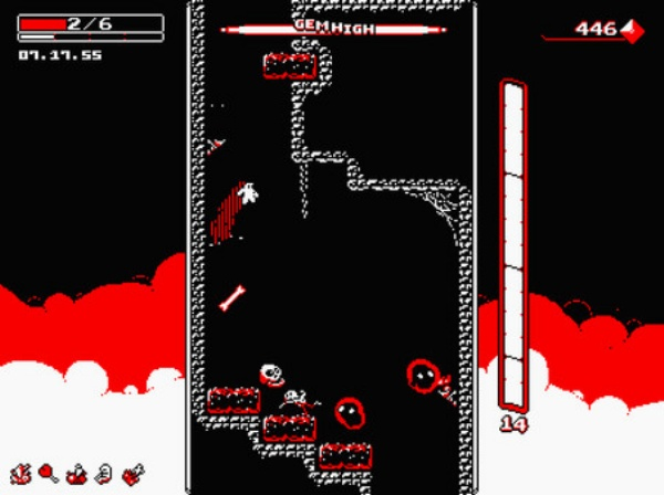Downwell drops on PS4 and Vita