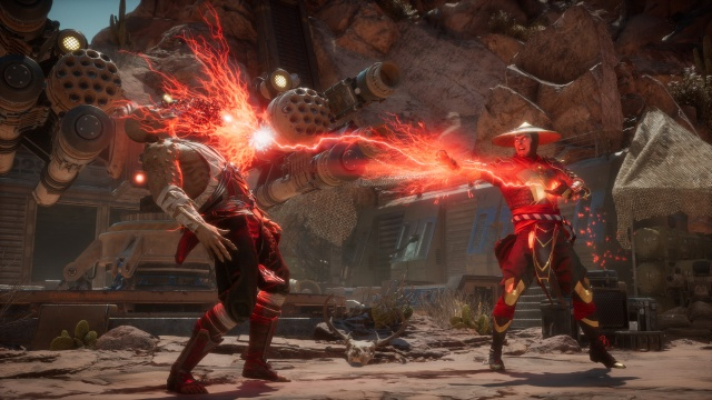 The fight begins in Mortal Kombat 11