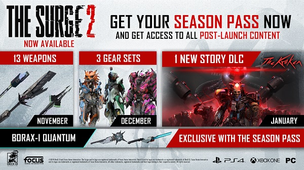 The Surge 2 releases season pass
