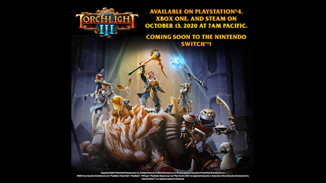 Torchlight III to be lit in October