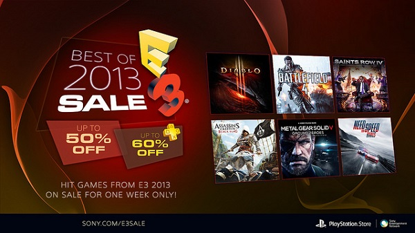 To celebrate E3 2014, Sony puts the best games of E3 2013 on sale
