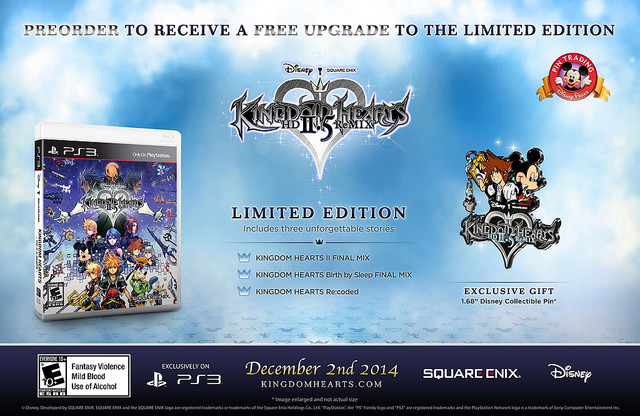 Kingdom Hearts HD 2.5 Remix Limited Edition announced