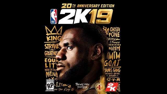 LeBron James named cover athlete of NBA 2K19 20th Anniversary Edition