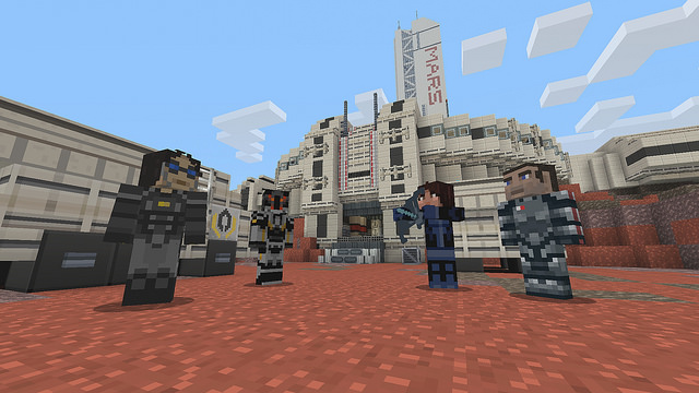 Minecraft mashes Mass Effect