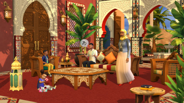 The Sims 4 find their oasis