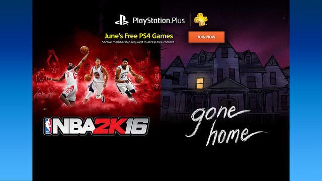 PlayStation Plus gamers will be going home in June to play NBA 2K16