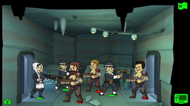 Fallout Shelter celebrating Thanksgiving in the Caves