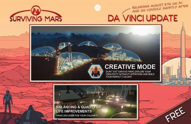 Surviving Mars getting a pair of free updates