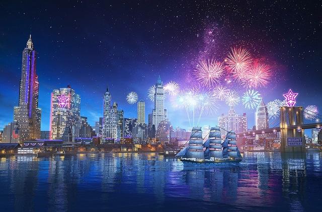 World of Warships celebrating the Fourth