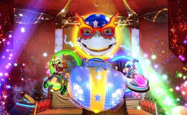 Crash Team Racing Nitro-Fueled unleashing a neon circus