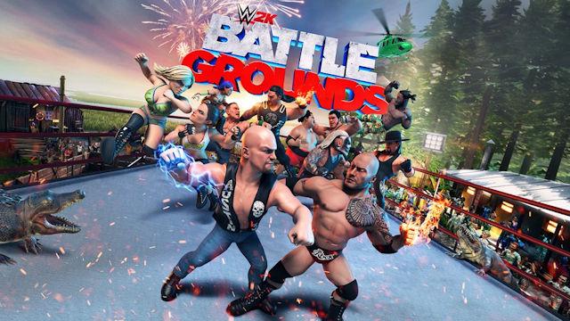 The battle begins in WWE 2K Battlegrounds
