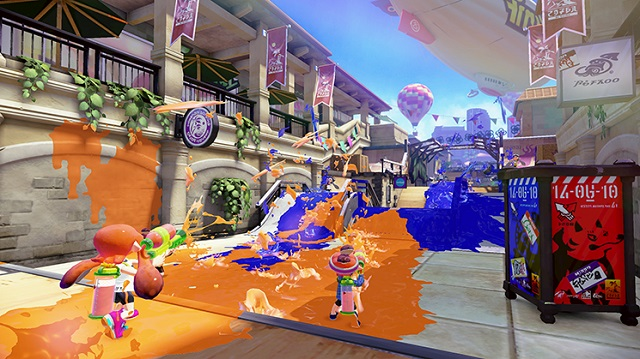 Nintendo coloring PAX East booth with Splatoon
