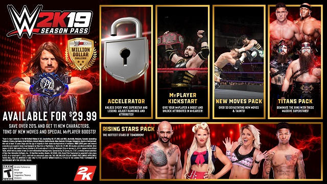 WWE 2K19 Season Pass revealed