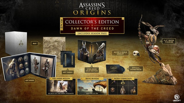 Assassin's Creed Origins collector's editions revealed