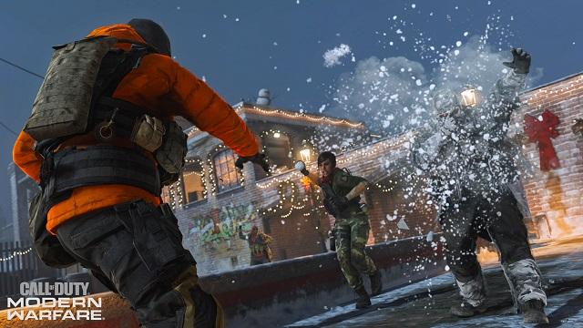 Snow fights break out in Modern Warfare