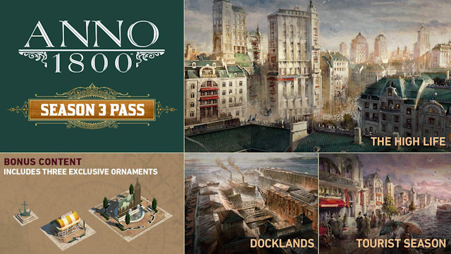Anno 1800 is getting a third season with three DLC packs