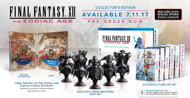 Final Fantasy XII: The Zodiac Age Collector's Edition announced