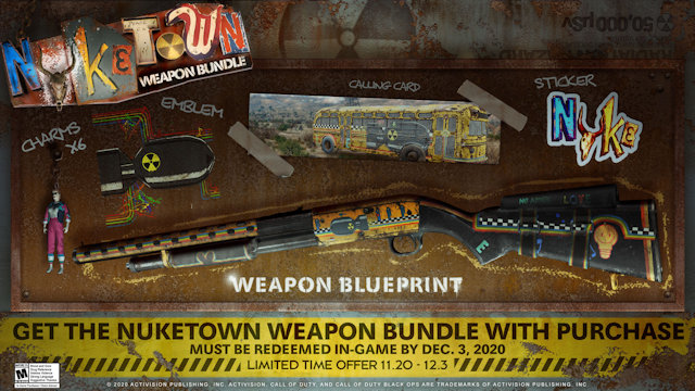 Cold War players getting a Nuketown Weapon bundle