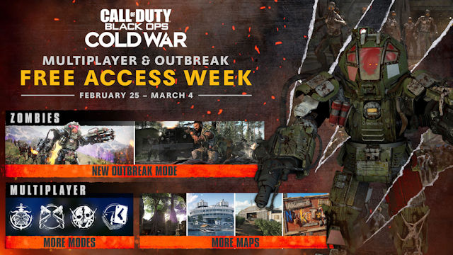 Black Ops Cold War hosting Free Access Week