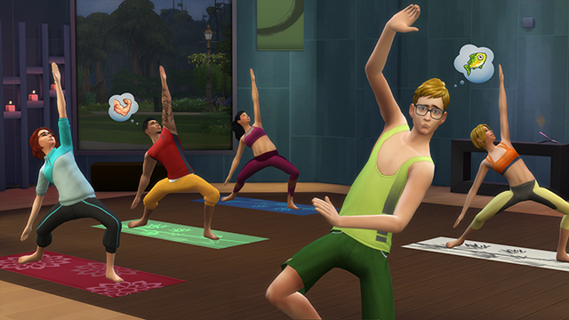 The Sims take a Spa Day