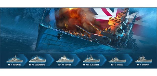 World of Warships update adds British Cruisers