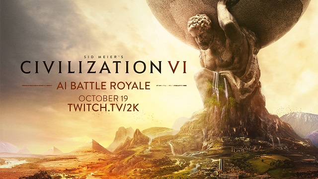 Civilization VI pitting leaders against each other in Battle Royale livestream