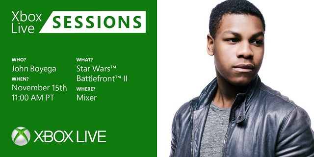 John Boyega to play Star Wars Battlefront 2 on Xbox Live Sessions