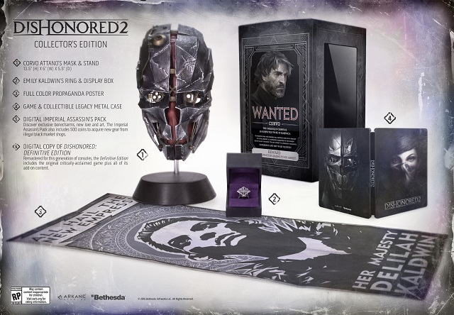 Dishonored 2 Collector's Edition revealed