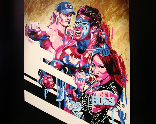 WWE 2K17 roster reveal painting at E3 completed