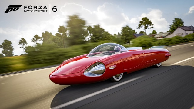 Fallout 4 car rocketing into Forza Motorsport 6