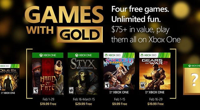 Xbox Games with Gold serves up Styx and Gears of War 2 for free in February