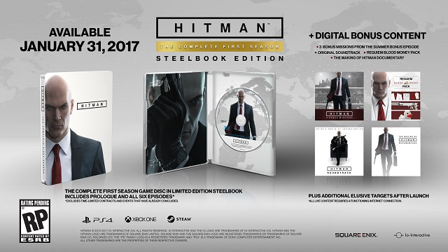 The complete first season of Hitman coming to stores in a steelbook case