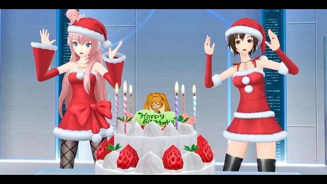 Hatsune Miku getting in the holiday spirit