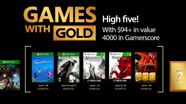 Free Xbox Games with Gold in June include assassins, dogs, and dragons