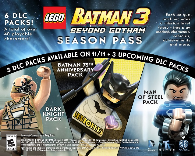 LEGO Batman 3: Beyond Gotham Season Pass announced