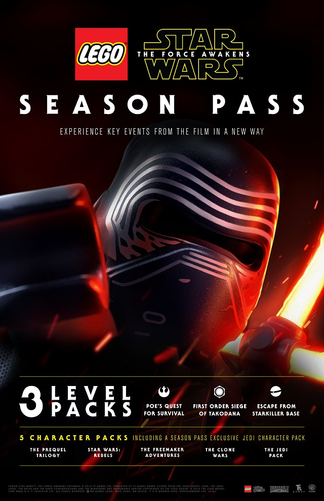 Season Pass details for LEGO Star Wars: The Force Awakens announced
