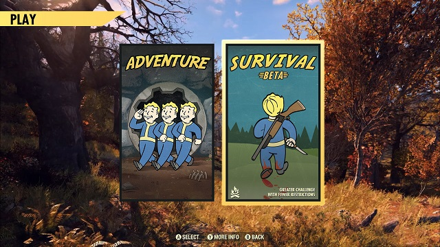 Fallout 76 launches Survival Mode Beta