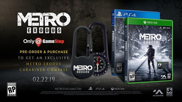 Pre-order Metro Exodus and get a carabineer compass