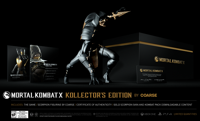Mortal Kombat X Kollector's Edition revealed