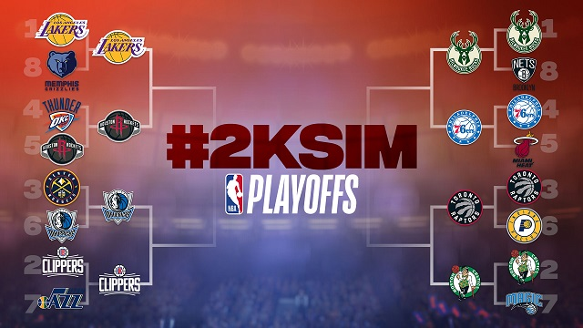 NBA 2K simulating the NBA playoffs